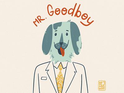 F - friend wellbeing good boy thestyleclassillustration suit friend dog art procreate illustration