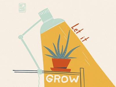 G - gratitude wellbeing grow lamp aloe thestyleclassillustration art procreate illustration