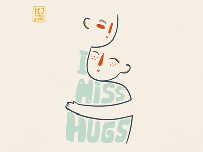 H - hugs friends people love hugs thestyleclassillustration wellbeing flat art procreate illustration