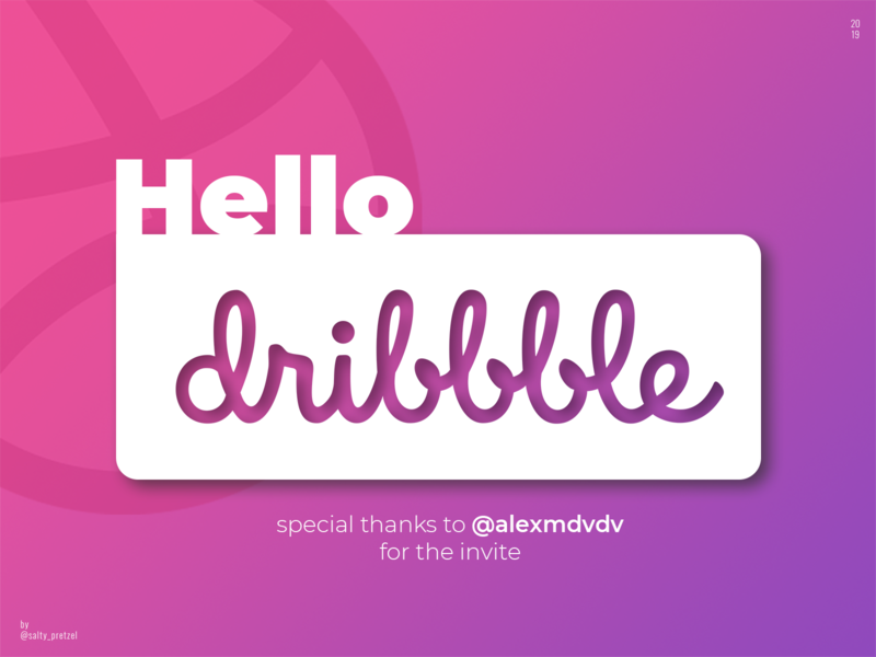 First Shot flat graphic design photoshop gradient invite debut hello dribbble