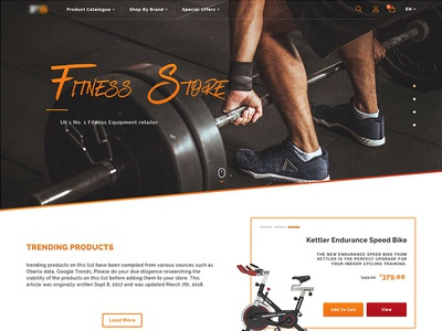E-Commerce Fitness Collection Screens