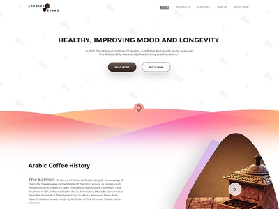 Arabica Coffee Beans Landing Page
