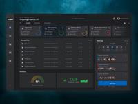 Web Platform - Praum || Rebound || managment project system learning website minimal dashboard dark dark mode dark ui information web ui ux design
