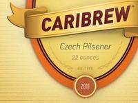 Caribrew Beer Label
