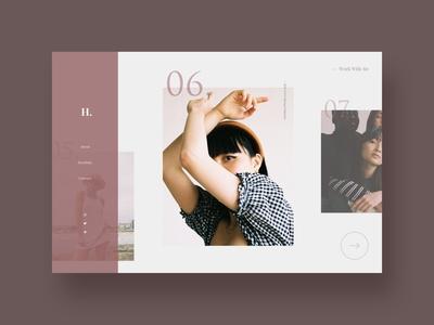 Photographer Portfolio fashion feminine elegant slideshow desktop design day 125 photographer photography portfolio typography ui branding 100 daily ui clean design 100 day ui challenge