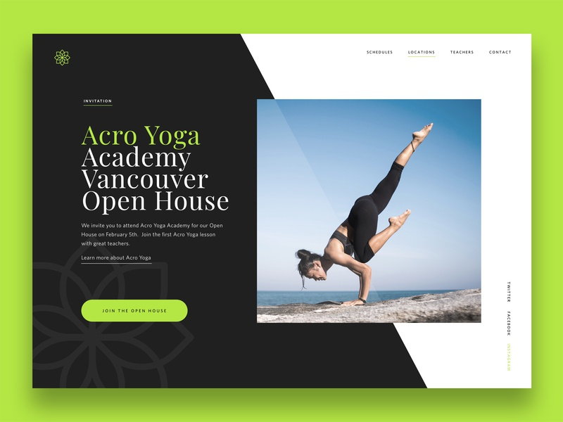 Landing Page UI daily ui 3 100 daily ui typography landing page uidesign website graphic ui
