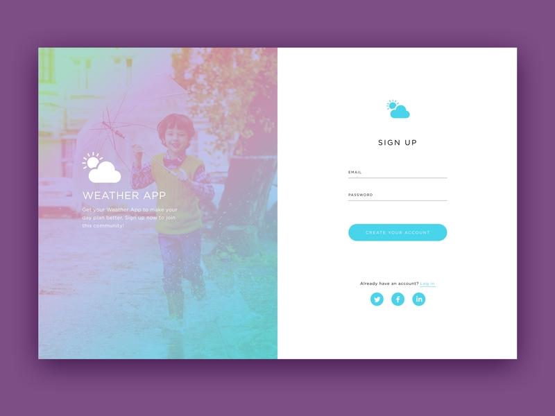 Sign Up UI daily clean design clean homepage design desktop design web landing page graphic website ux 100 daily ui design ui 100 day ui challenge
