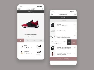 Barcode Scan Shopping App UI