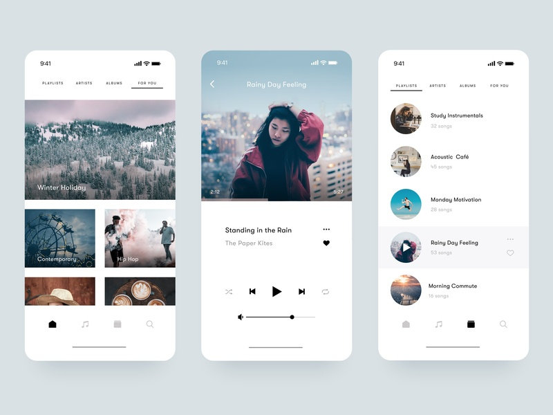 Music Player UI app design music  player music app day 009 clean design ux clean 100 day ui challenge 100 daily ui graphic ui design