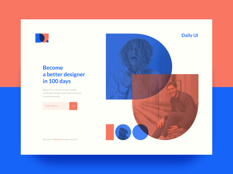 Subscribe Page for Daily UI subscribe desktop design website clean design 100 day ui challenge 100 daily ui graphic ui design