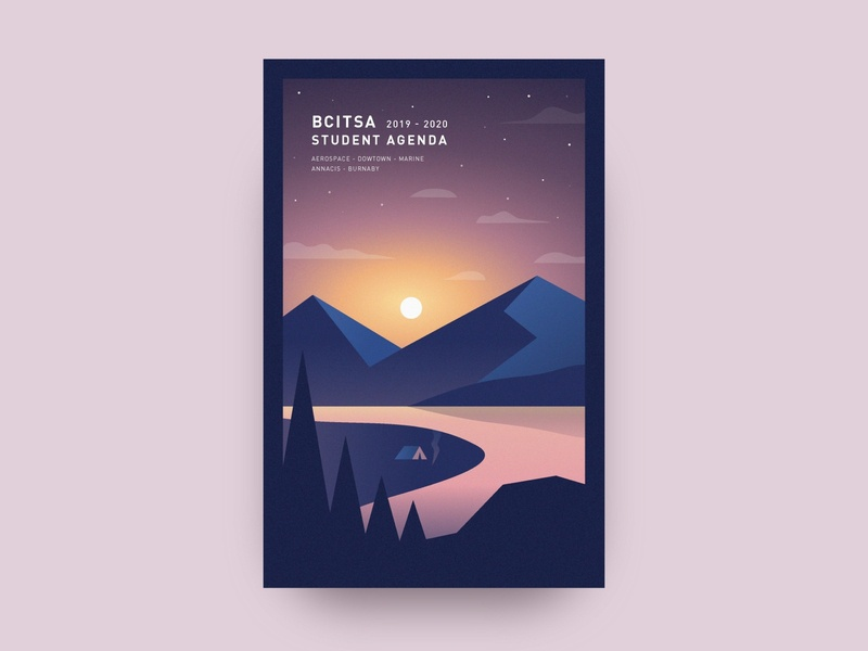 Somewhere on the West Coast - Sunrise clean cover design clean illustration vector illustration clean design graphic