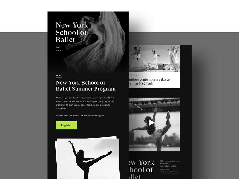Email Design email email design typography website 100 day ui challenge 100 daily ui clean design uiuxdesign uiux ui graphic design