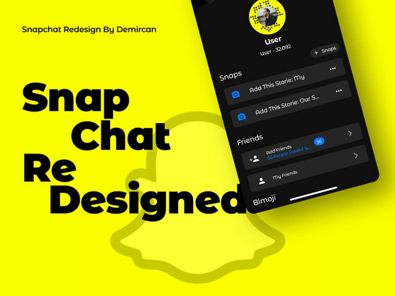 Snapchat Dark Mode With Profile Photo By Mahsun Demircan On Dribbble
