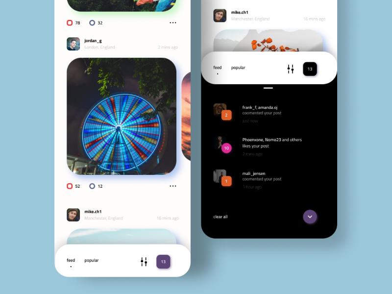 Social App webdesi uidesign ux ui uiux