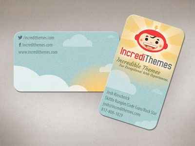 IncrediThemes Logo and Business Card Design business card brand design brand logo design