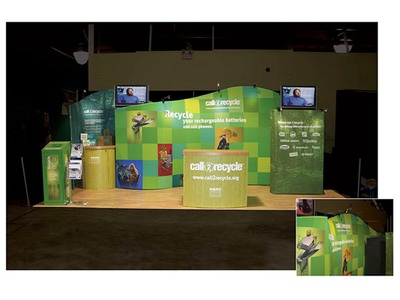 Call2Recycle Trade Show Booth graphic design exhibition design art direction