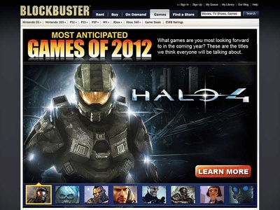 Blockbuster Web Promotion - Games Page image retouch web design user interface user experience