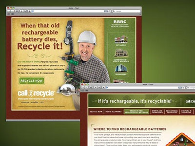 RBRC - Call2Recycle Website web design user interface user experience