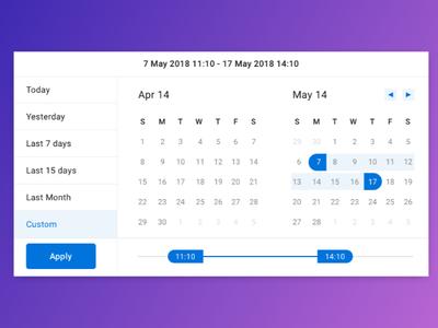 Date and Time range slider UI
