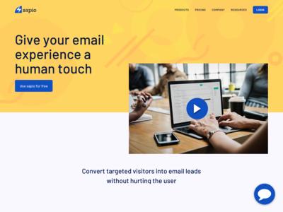 Sapio Website - Home Page