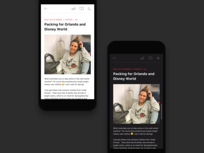 Reading App Design Project - 2