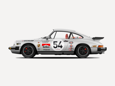 Porsche 911 Carrera 3.2 Vector Illustration