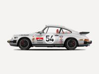 Porsche 911 Carrera 3.2 Vector Illustration classic car illustration design car sketch sketchapp vector illustration vector porsche porsche 911