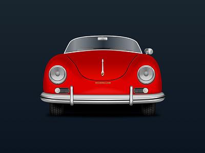 Porsche 356 Speedster Vector Illustration vector illustration vector sketchapp sketch porsche 356 porsche illustration design classic car car