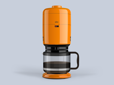 Braun Aromaster KF20 Vector Illustration vector illustration vector aromaster coffeemaker coffee machine sketchapp sketch illustration braun