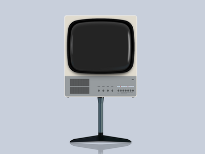 Braun FS 80 Television Vector Illustration dieter rams television tv illustration braun sketchapp sketch vector vector illustration