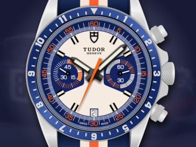 Tudor Heritage Chrono Blue Watch Illustration