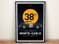 Rallye Automobile De Monte Carlo 1969 Poster Design
