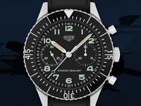 Heuer Bundeswehr 1551SGSZ Sternzeit Reguliert Watch Illustration