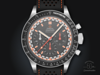 1968 Omega Speedmaster Racing Dial Watch Illustration