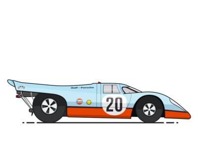 Porsche 917 vector 917 porsche sketchapp sketch illustration