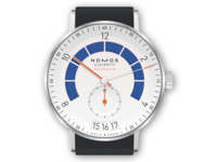 Nomos Glashutte Autobahn Sportgrau Watch Illustration