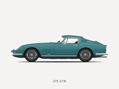 Ferrari 275 GTB Illustration icon classic car ferrari 275 sketchapp vintage vector sketch ferrari illustration design car 275