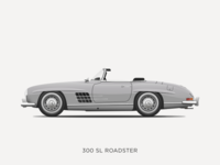 Mercedes-Benz 300 SL Roadster Illustration