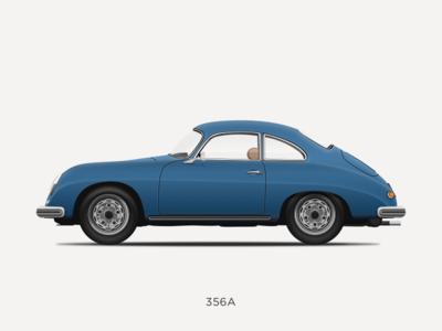 Porsche 356 A Illustration porsche 356 vintage vector sketchapp sketch 356 porsche illustration icon design classic car car