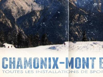 Chamonix V2 retro vintage poster poster design photoshop franchise futura