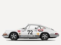 1969 Porsche 911 R Illustration