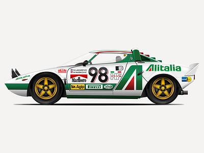 1974 Lancia Stratos HF Stradale Vector Illustration design classic car car lancia lancia stratos icon vintage sketchapp sketch illustration vector