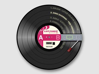 Vinyl is the New Black concept design funky vinyl record vinyl sketchapp sketch illustration vector