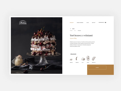 Patisserie redesign Product Page Animation web animation patisserie ui  ux design interaction design webdesign ux design ui ux
