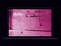 'Hello' - dribbble debut