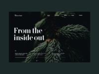 Nature Style grid design grid content motivation interface ux ui website figma web typography design