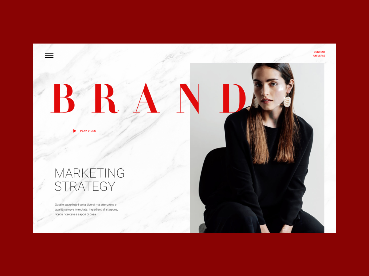 Brand minimal type website ui web figma typography design
