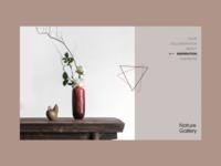 Nature Gallery grid motivation web site grid design content ux interface web minimal ui website type figma typography design