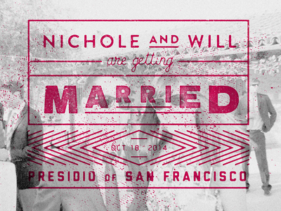 Save The Date - Inside save the date typography san francisco presidio overprint calligraphy hand-lettering