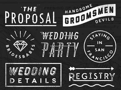 N&W — Assorted Lockups typography design photoshop distressed vintage retro